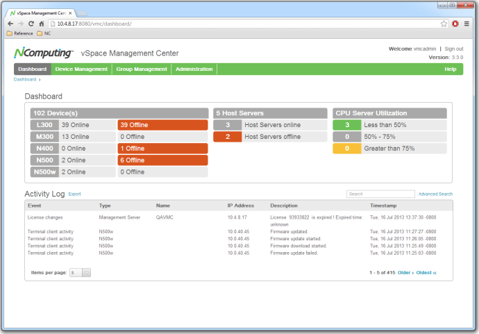 NComputing Management Console